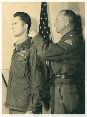 """Homer L. Wise, Sergente della Compagnia L, Reggimento Fanteria 36a Divisione """"Texas"""", insignito di Medaglia d'Onore del Congresso (foto Giulietto Betti)"""