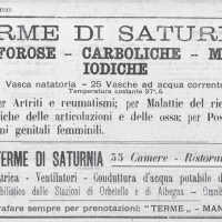 Pubblicita sul periodico grosset ano L'Ombrone, 10 agosto 1919