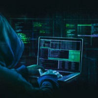dark web hooded hacker security concept